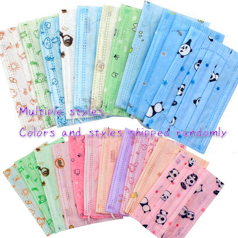10 PCS Disposable 3ply Kids Mouth Masks